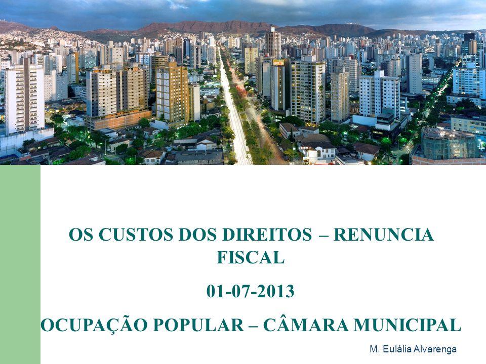 OS CUSTOS DOS DIREITOS – RENUNCIA FISCAL 01-07-2013