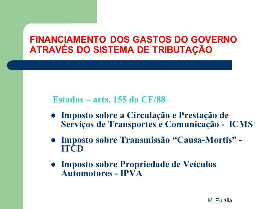 FINANCIAMENTO DOS GASTOS DO GOVERNO ATRAVÉS DO SISTEMA DE TRIBUTAÇÃO