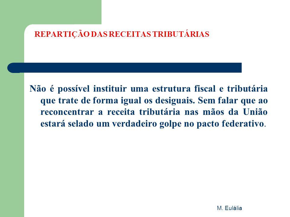 REPARTIÇÃO DAS RECEITAS TRIBUTÁRIAS