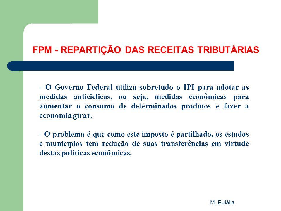 FPM - REPARTIÇÃO DAS RECEITAS TRIBUTÁRIAS