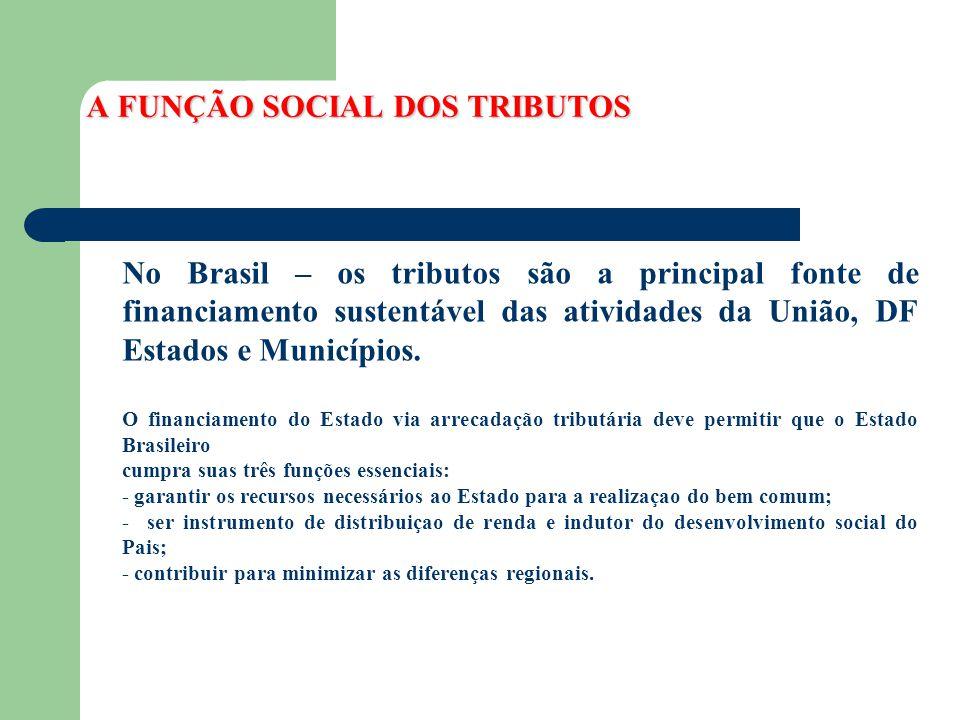 A FUNÇÃO SOCIAL DOS TRIBUTOS