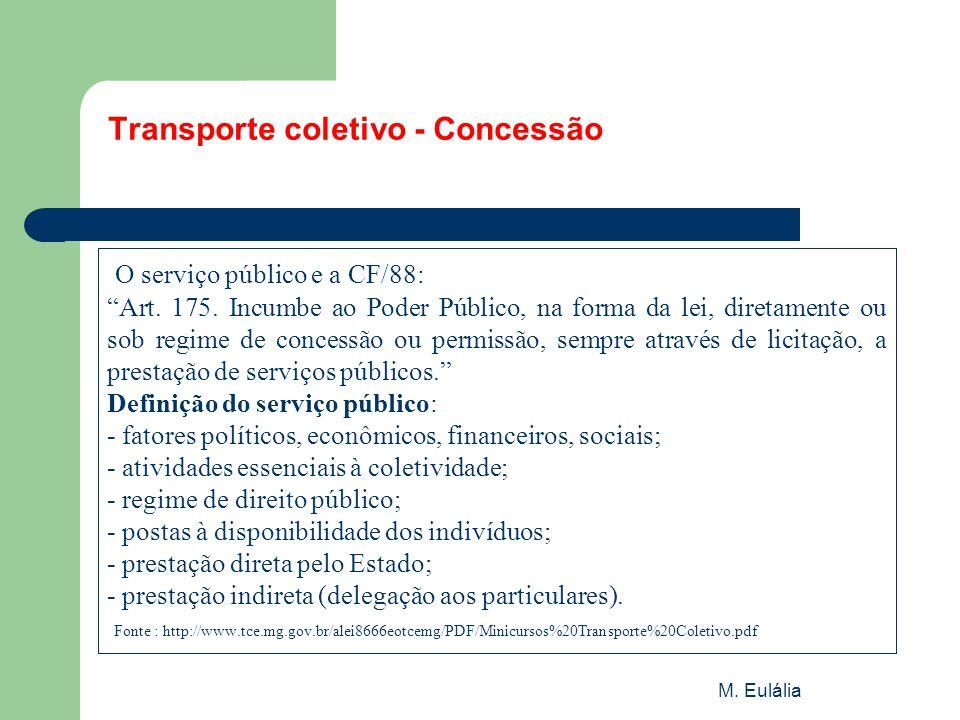 Transporte coletivo - Concessão