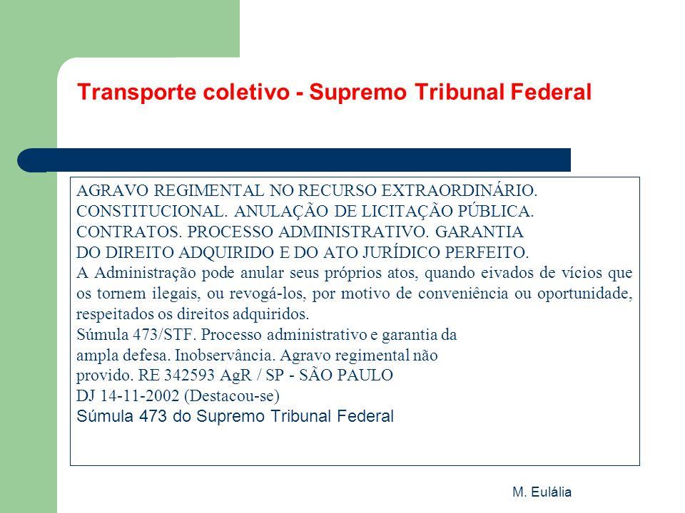 Transporte coletivo - Supremo Tribunal Federal