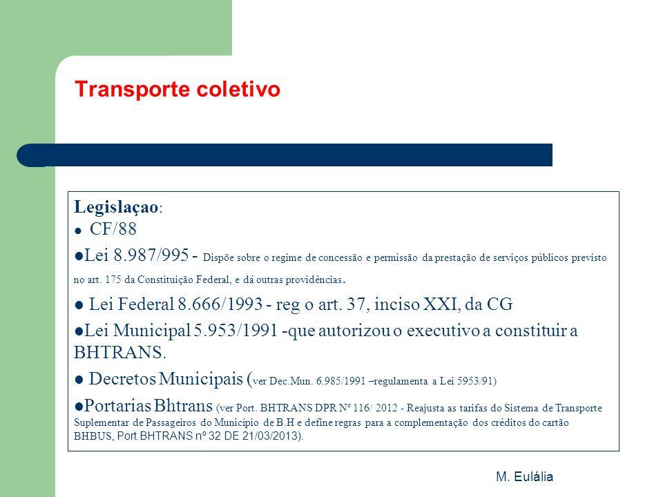 Transporte coletivo Legislaçao:
