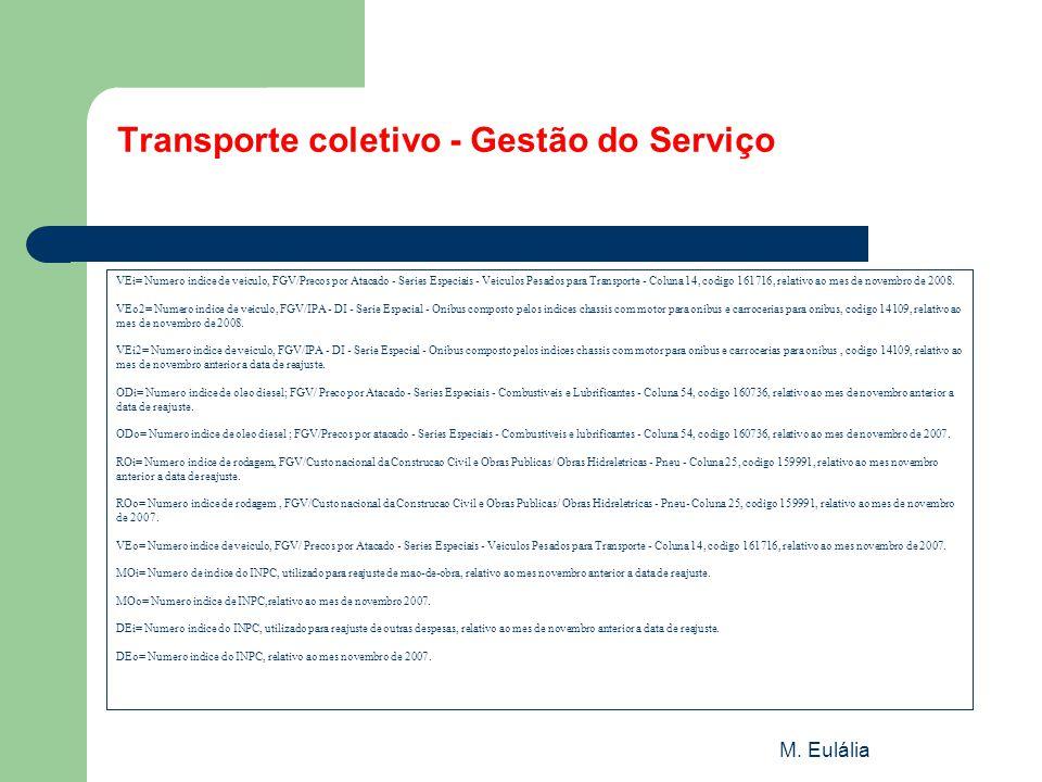 Transporte coletivo - Gestão do Serviço
