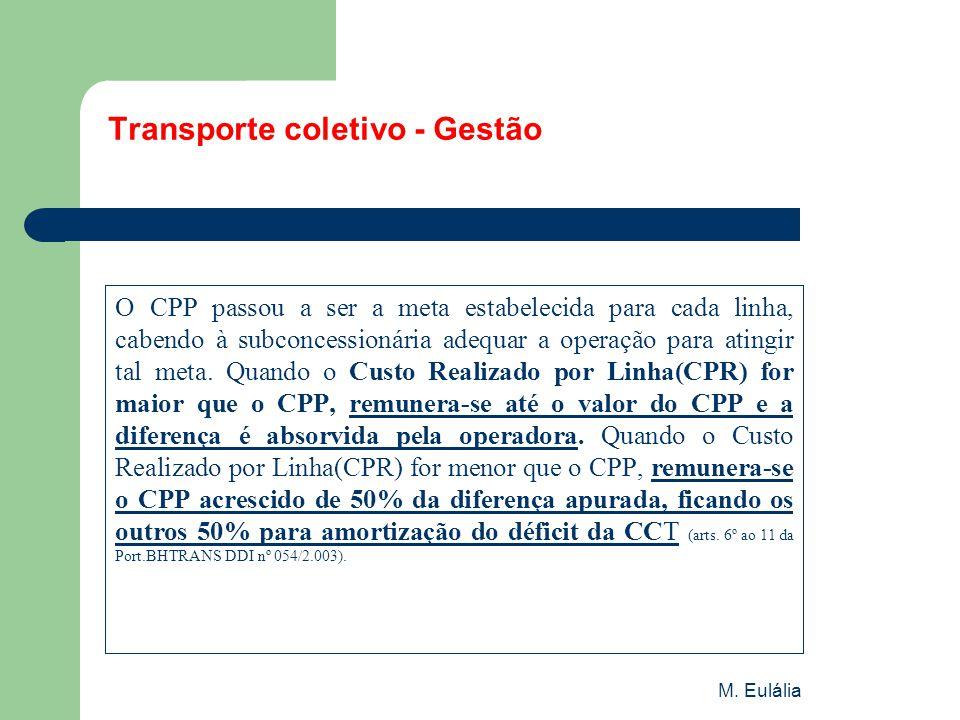 Transporte coletivo - Gestão