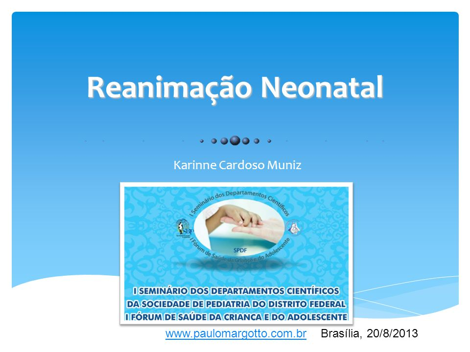 Reanimação Neonatal Karinne Cardoso Muniz