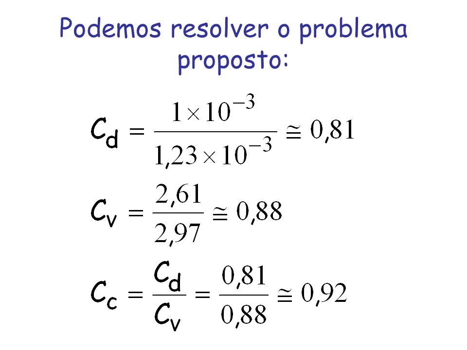 Podemos resolver o problema proposto: