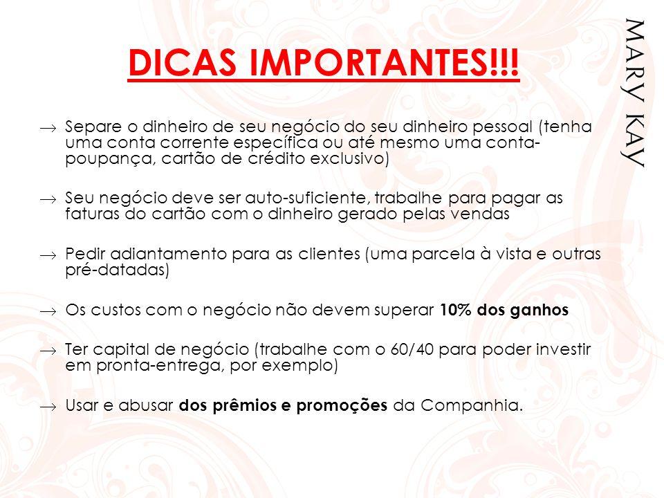 DICAS IMPORTANTES!!!