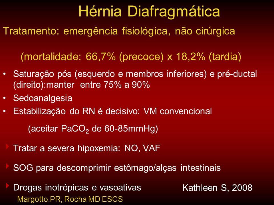 Hérnia Diafragmática Tratamento: emergência fisiológica, não cirúrgica