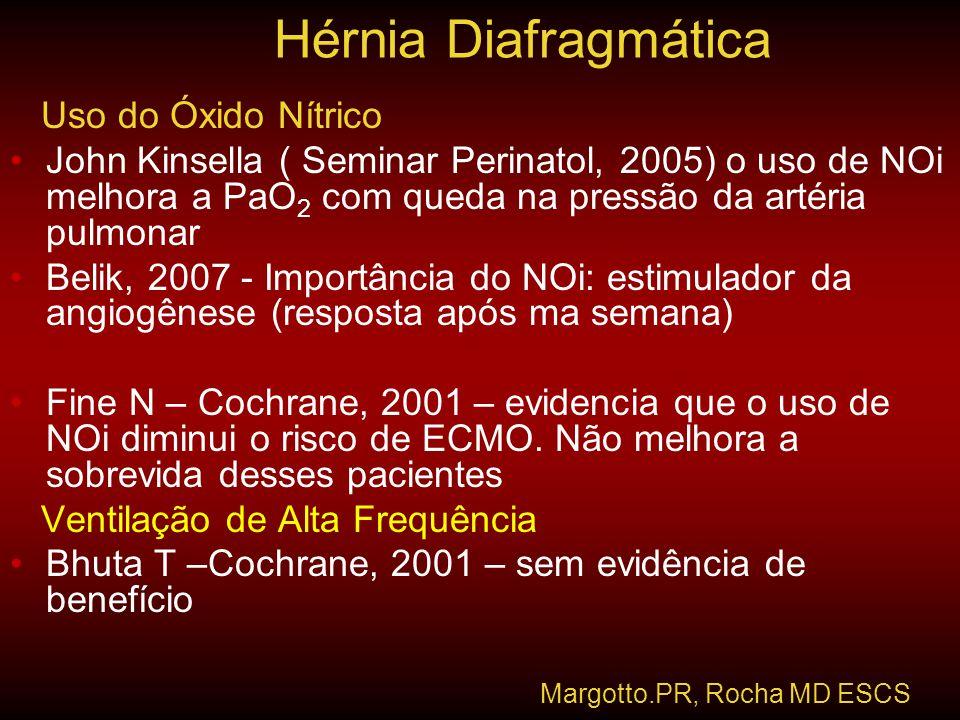 Hérnia Diafragmática Uso do Óxido Nítrico