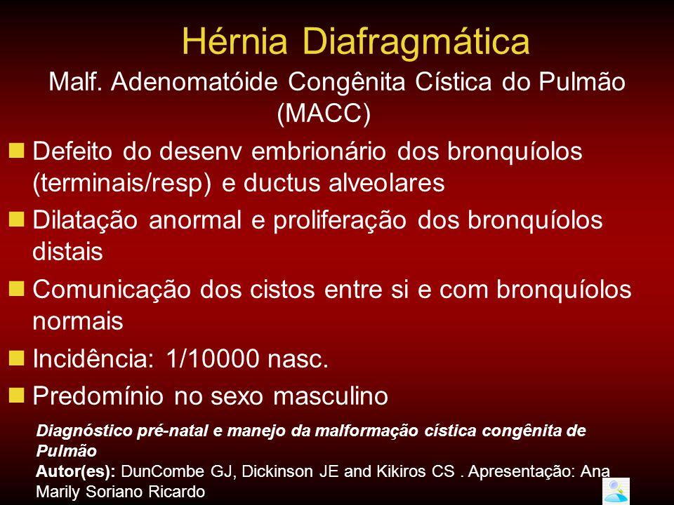 Malf. Adenomatóide Congênita Cística do Pulmão