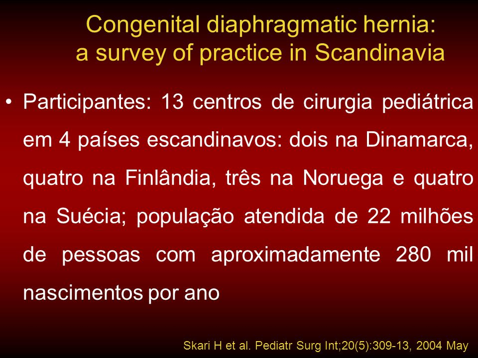 Congenital diaphragmatic hernia: a survey of practice in Scandinavia