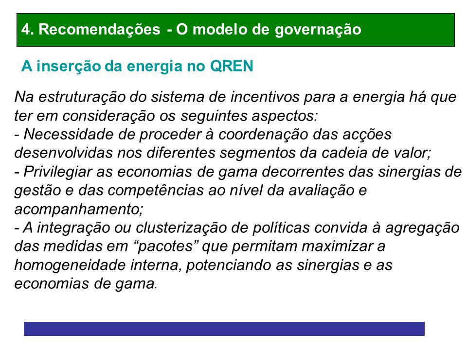 4. Recomendações - O modelo de governação