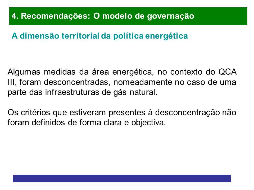 4. Recomendações: O modelo de governação