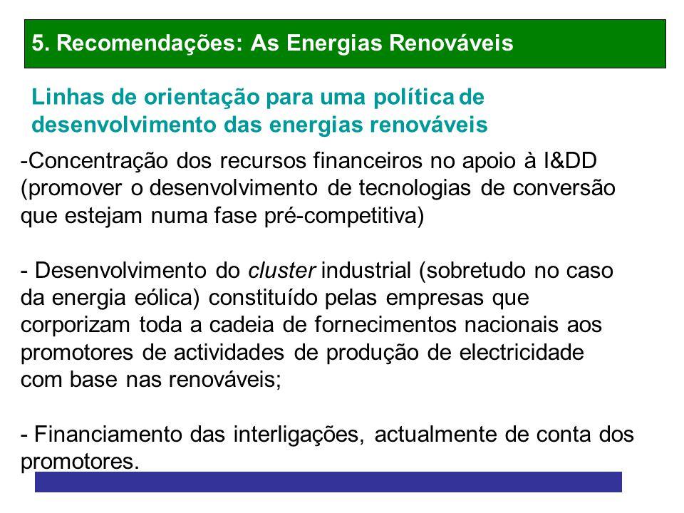 5. Recomendações: As Energias Renováveis