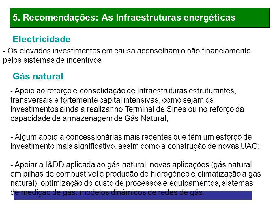 5. Recomendações: As Infraestruturas energéticas