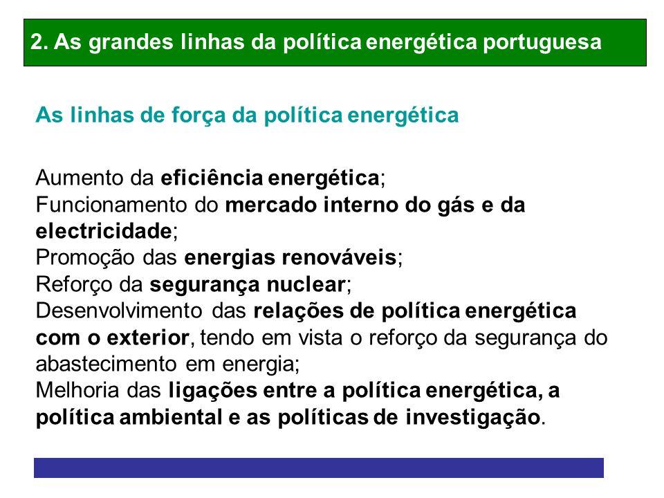 2. As grandes linhas da política energética portuguesa