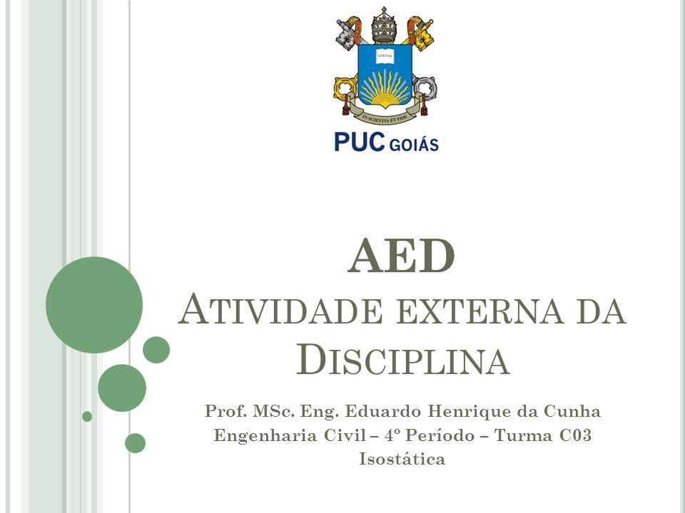 AED Atividade externa da Disciplina