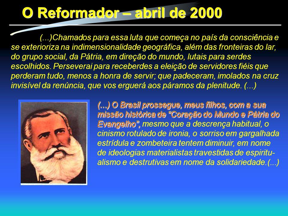 O Reformador – abril de 2000
