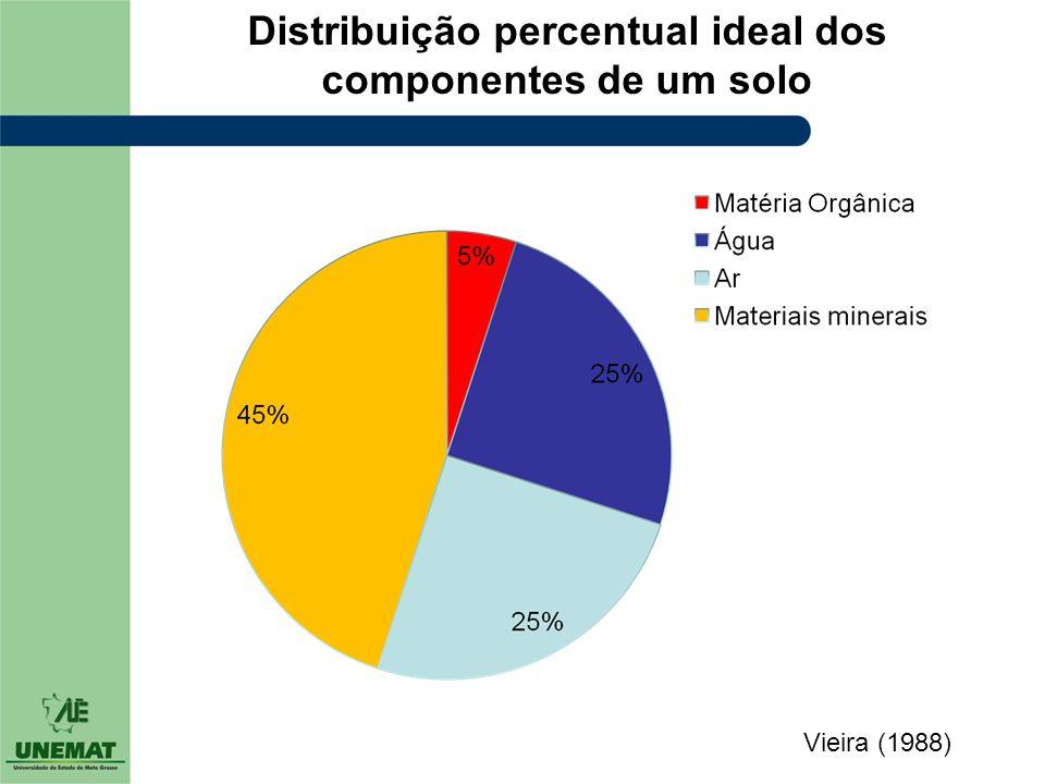 Distribuição percentual ideal dos componentes de um solo