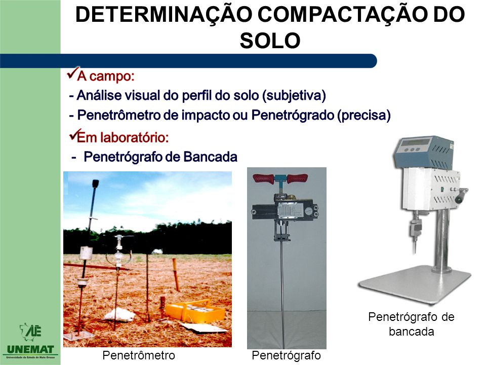 DETERMINAÇÃO COMPACTAÇÃO DO SOLO