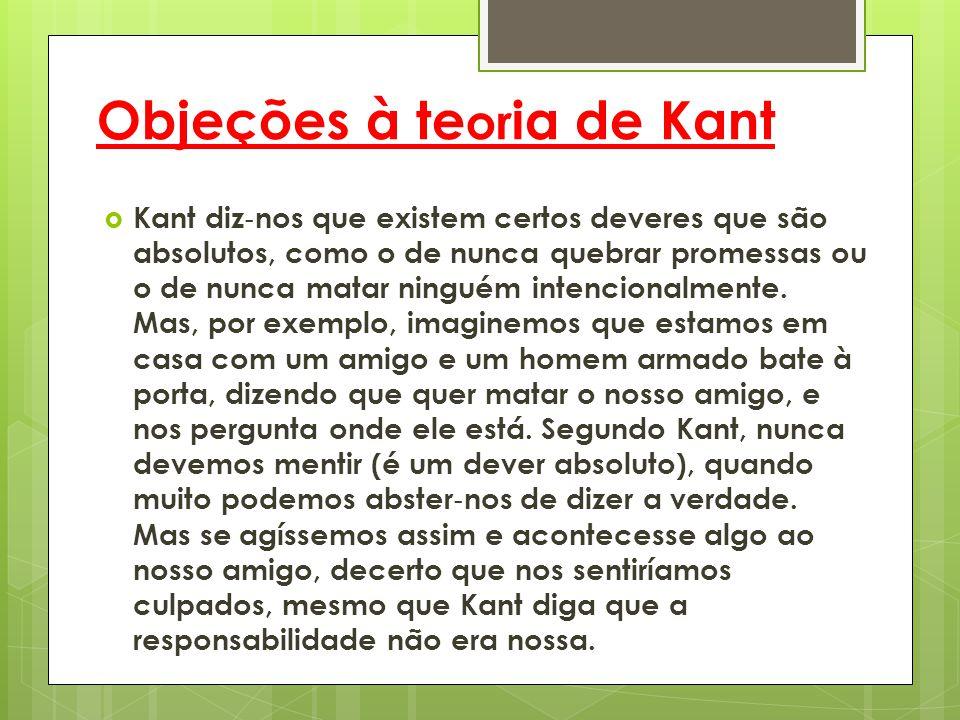 Objeções à teoria de Kant