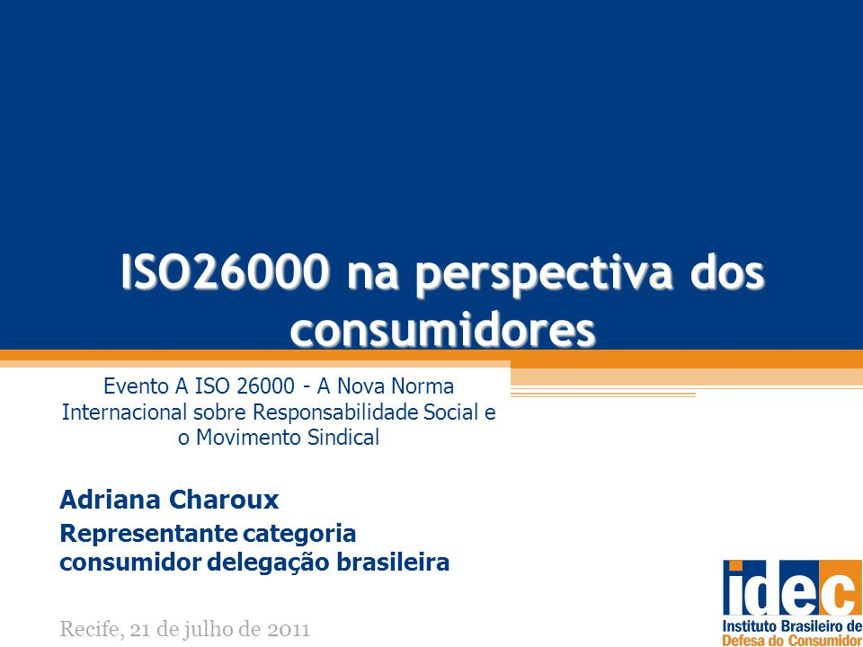 ISO26000 na perspectiva dos consumidores