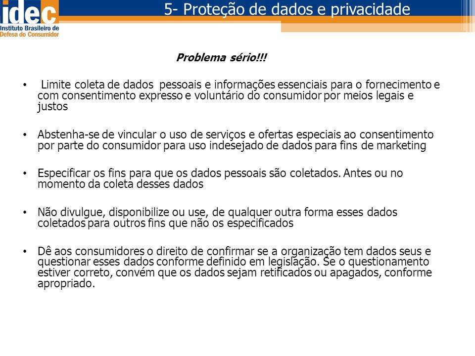 5- Proteção de dados e privacidade