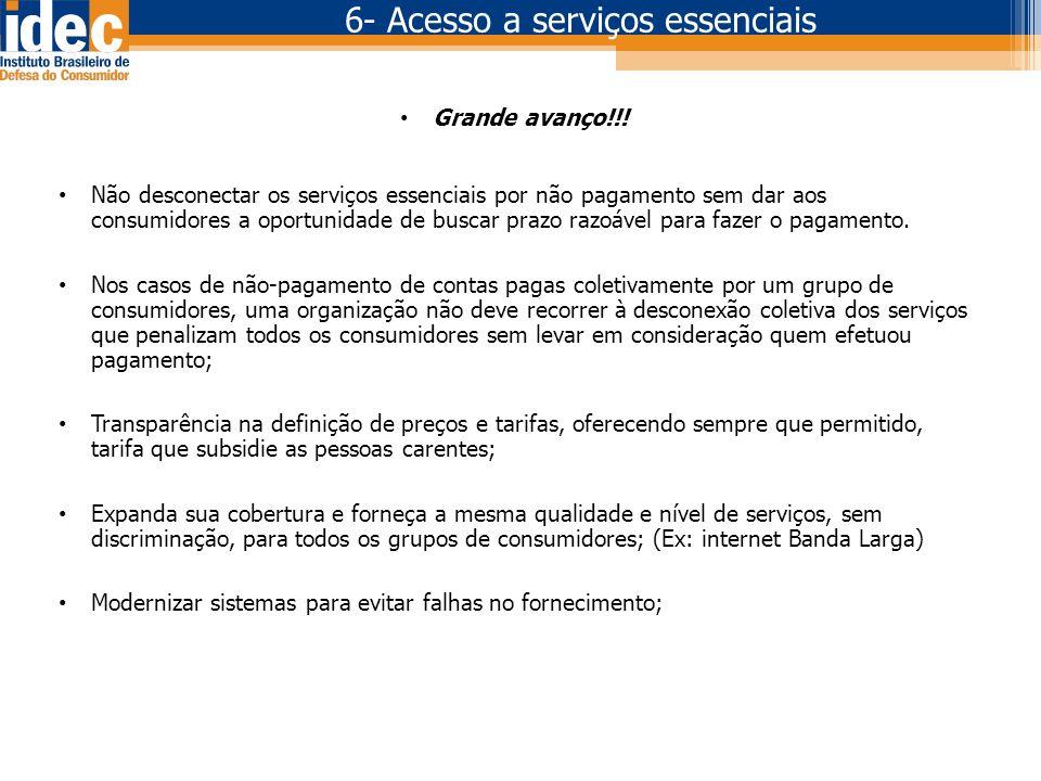 6- Acesso a serviços essenciais