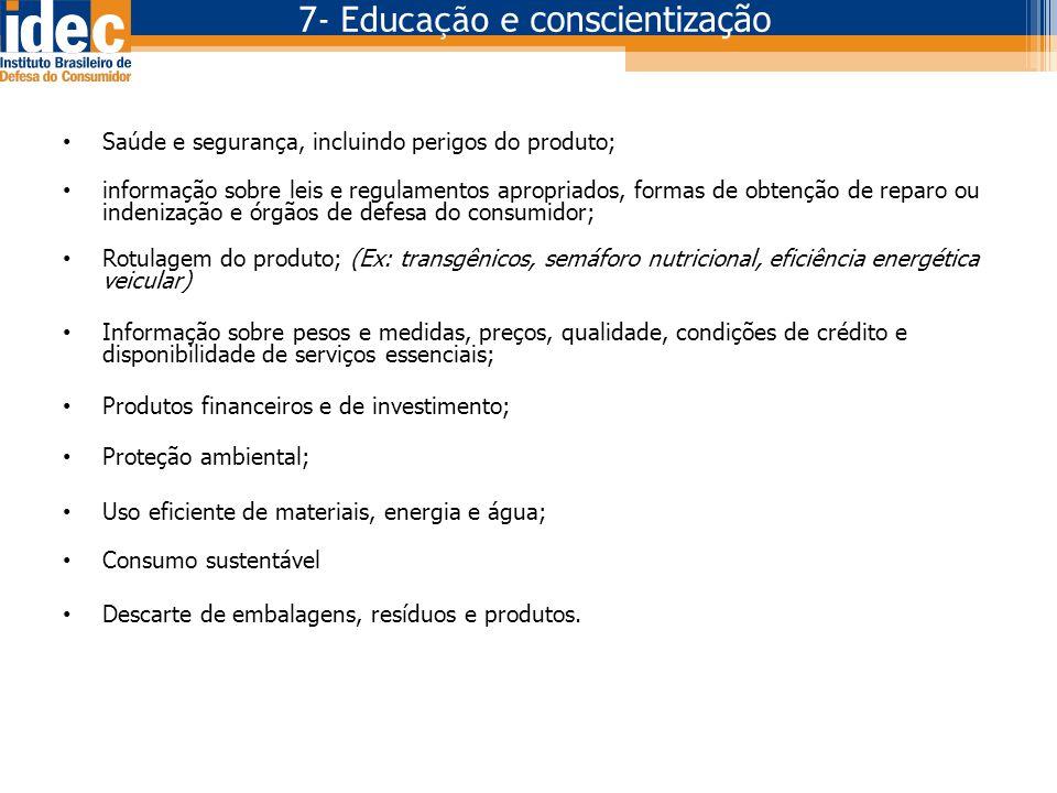 7- Educação e conscientização
