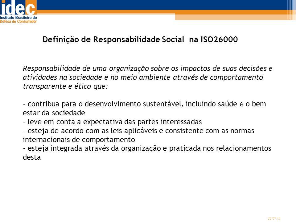 Definição de Responsabilidade Social na ISO26000
