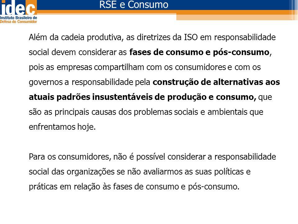 RSE e Consumo