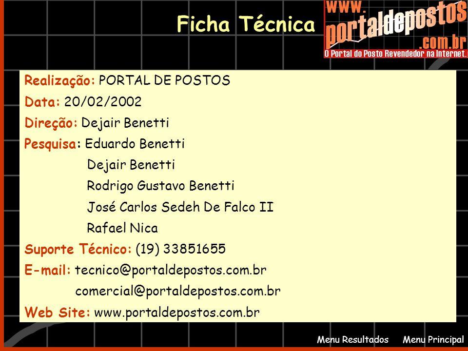 Ficha Técnica Realização: PORTAL DE POSTOS Data: 20/02/2002