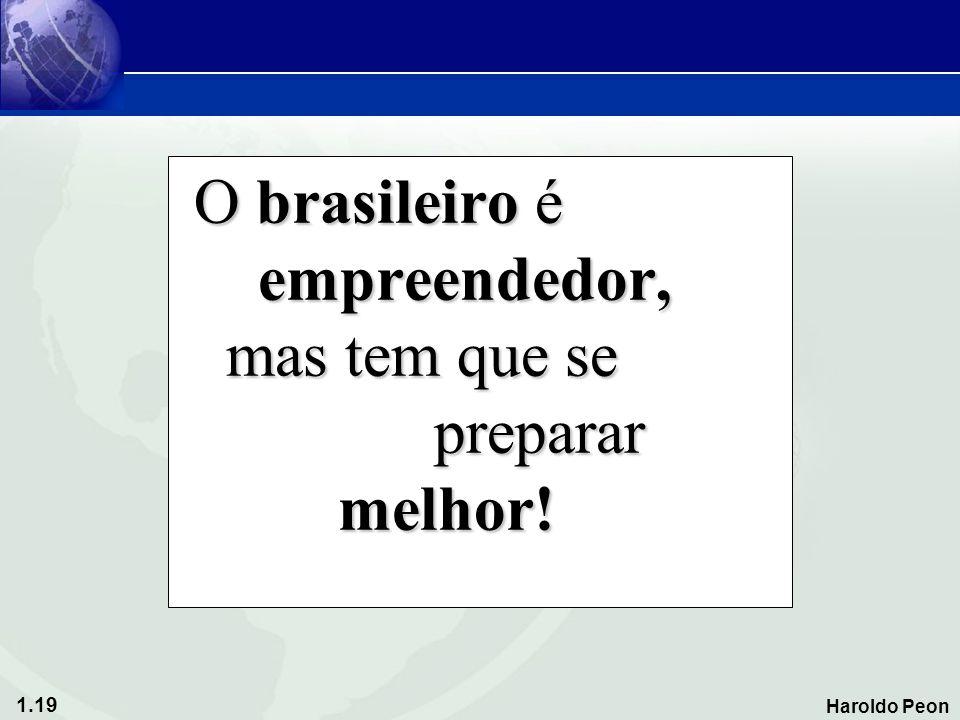 O brasileiro é empreendedor, mas tem que se preparar melhor!