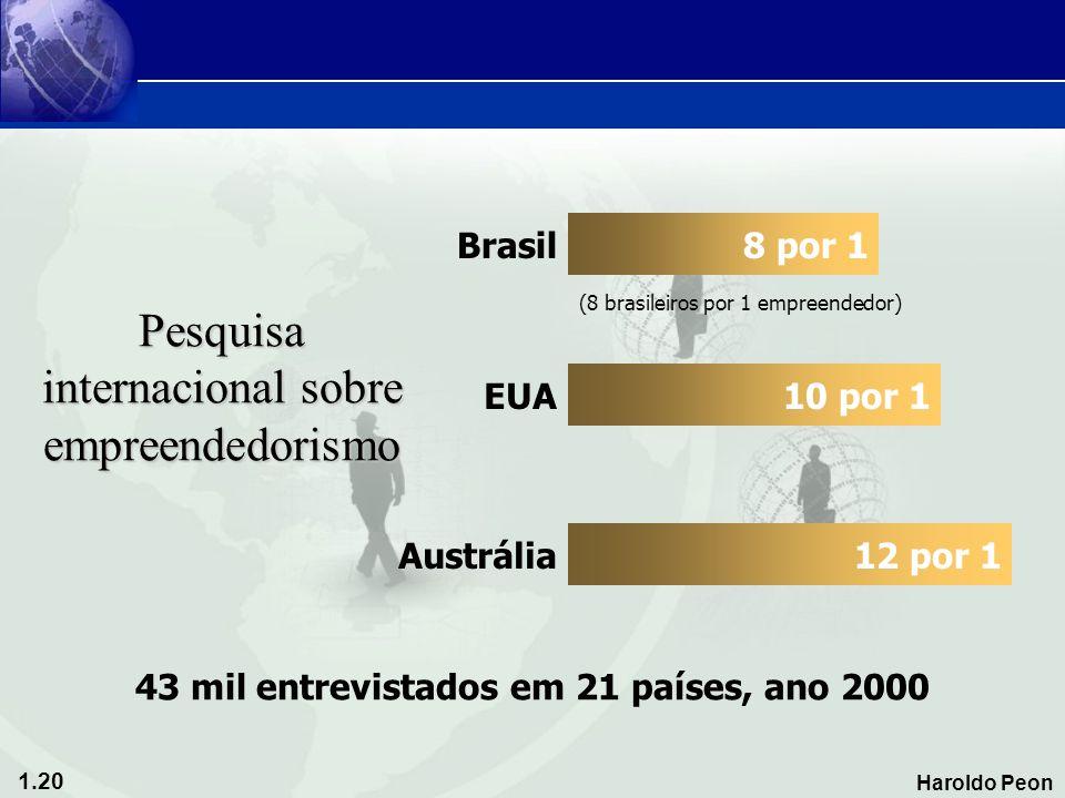 Pesquisa internacional sobre empreendedorismo
