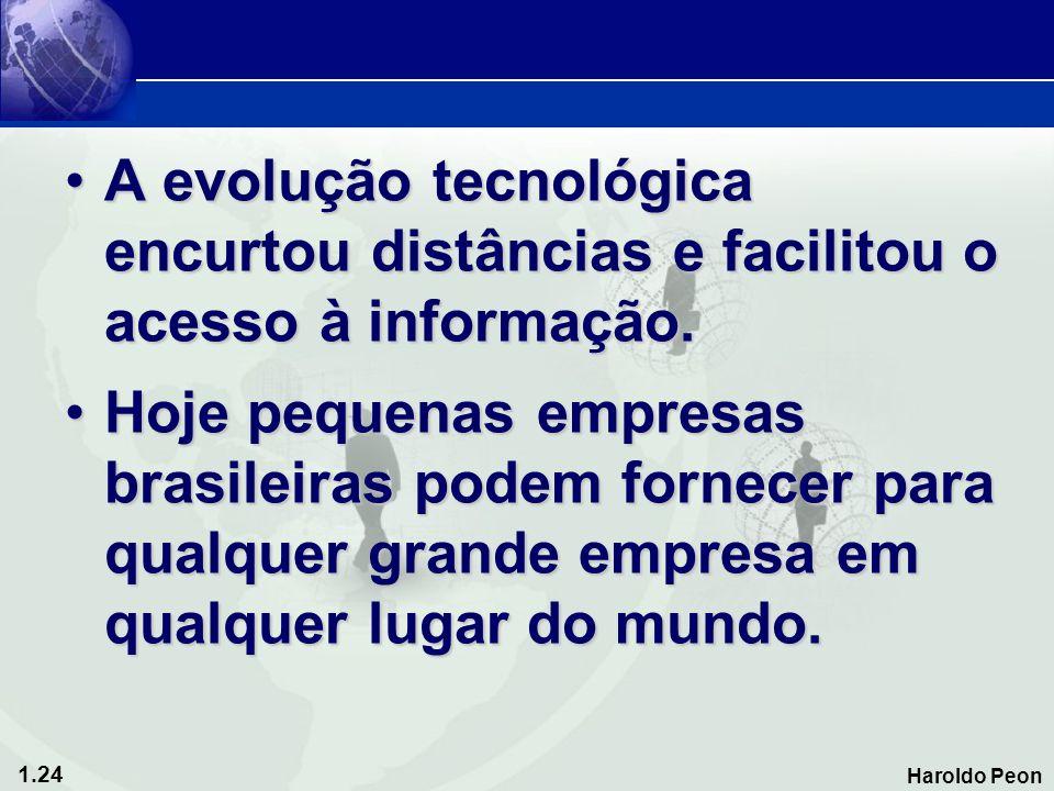 A evolução tecnológica encurtou distâncias e facilitou o acesso à informação.