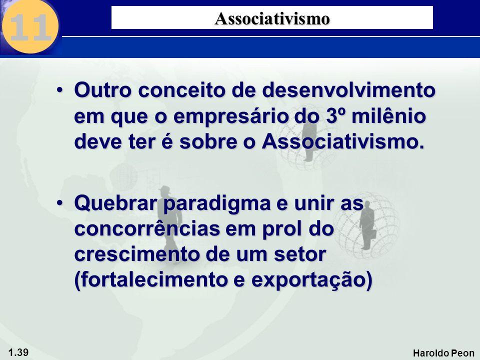 11 Associativismo. Outro conceito de desenvolvimento em que o empresário do 3º milênio deve ter é sobre o Associativismo.