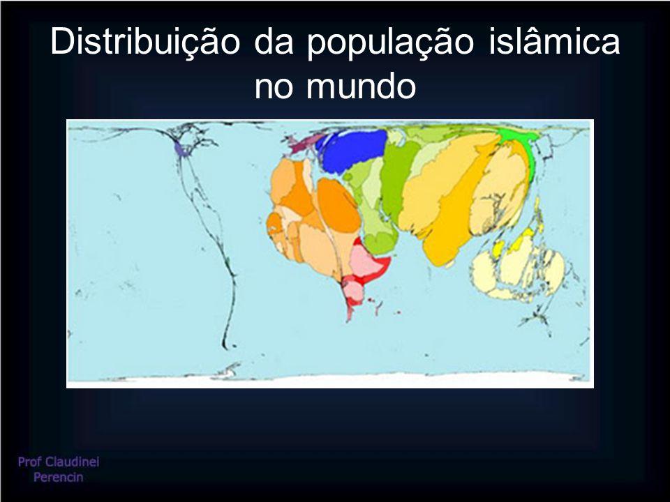 Distribuição da população islâmica no mundo