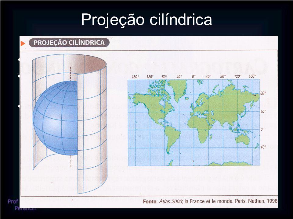 Projeção cilíndrica Ideal para representar planisférios