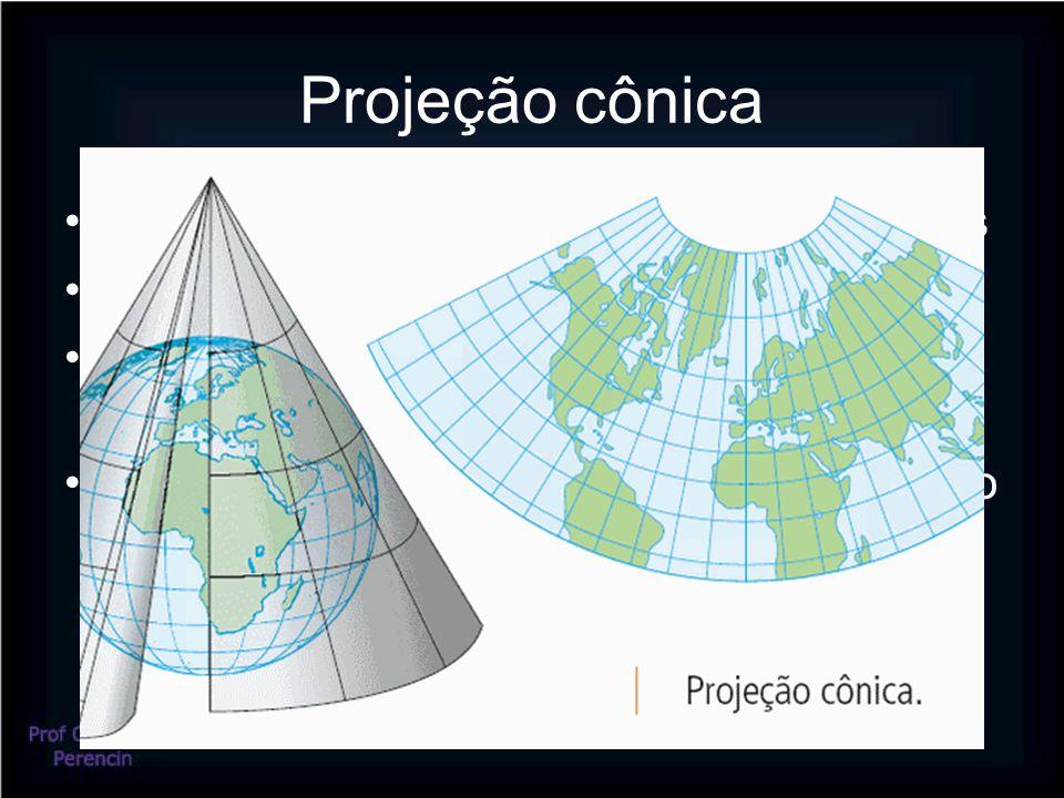 Projeção cônica Ideal para representar as médias latitudes