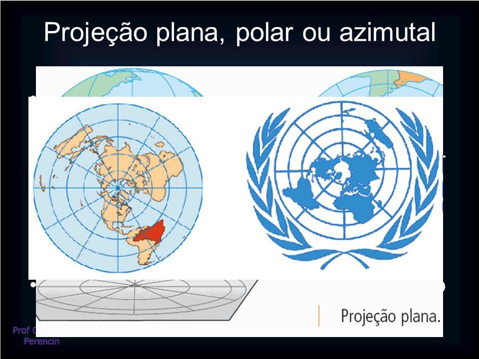 Projeção plana, polar ou azimutal