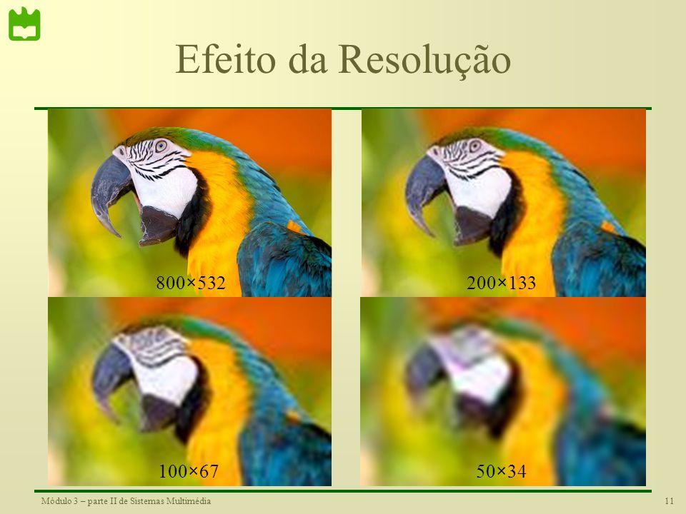 Efeito da Resolução 800×532 200×133 100×67 50×34