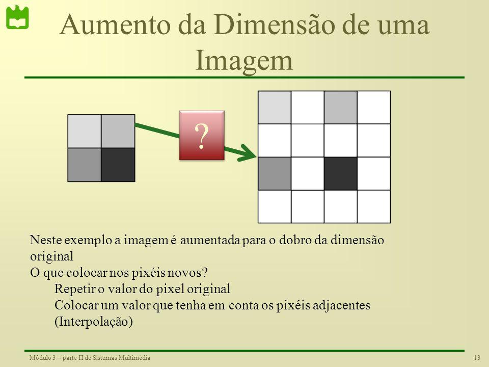 Aumento da Dimensão de uma Imagem