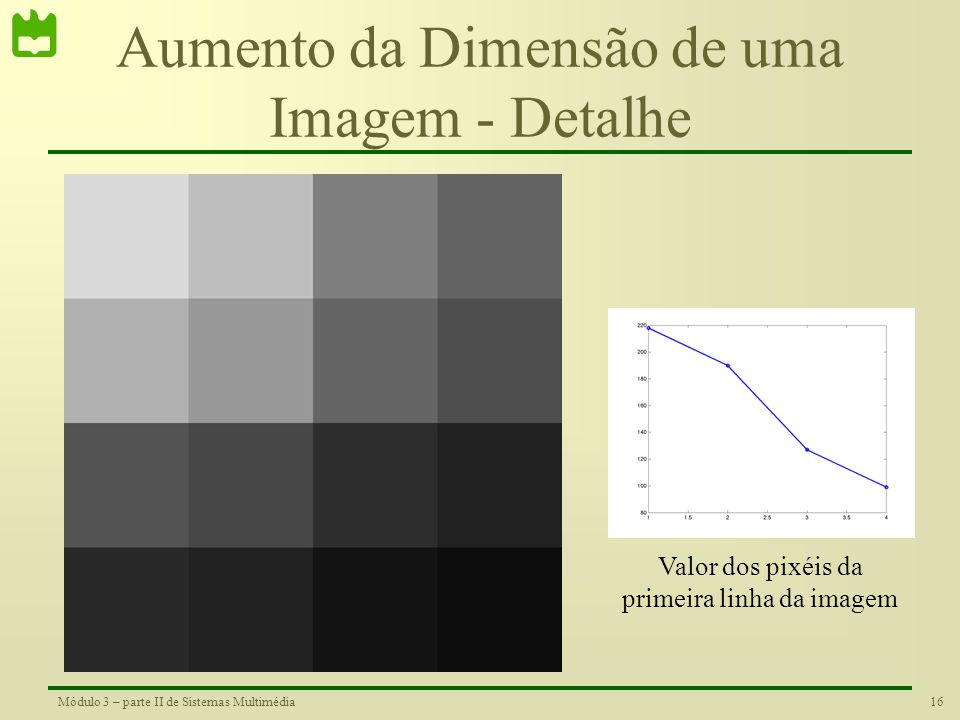 Aumento da Dimensão de uma Imagem - Detalhe