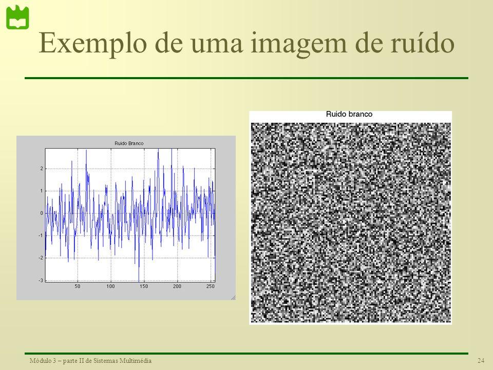 Exemplo de uma imagem de ruído