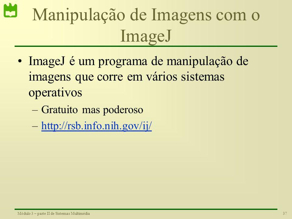 Manipulação de Imagens com o ImageJ