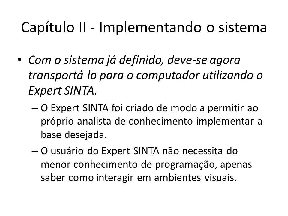 Capítulo II - Implementando o sistema