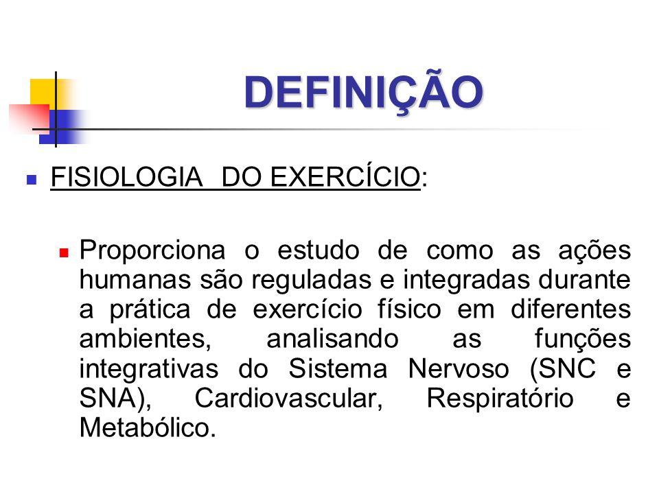 DEFINIÇÃO FISIOLOGIA DO EXERCÍCIO: