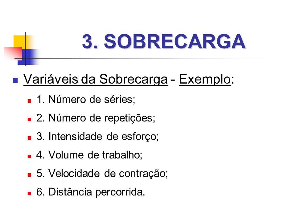3. SOBRECARGA Variáveis da Sobrecarga - Exemplo: 1. Número de séries;